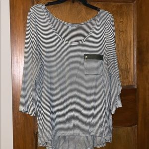 Charlotte Russe Striped 3/4 sleeve top